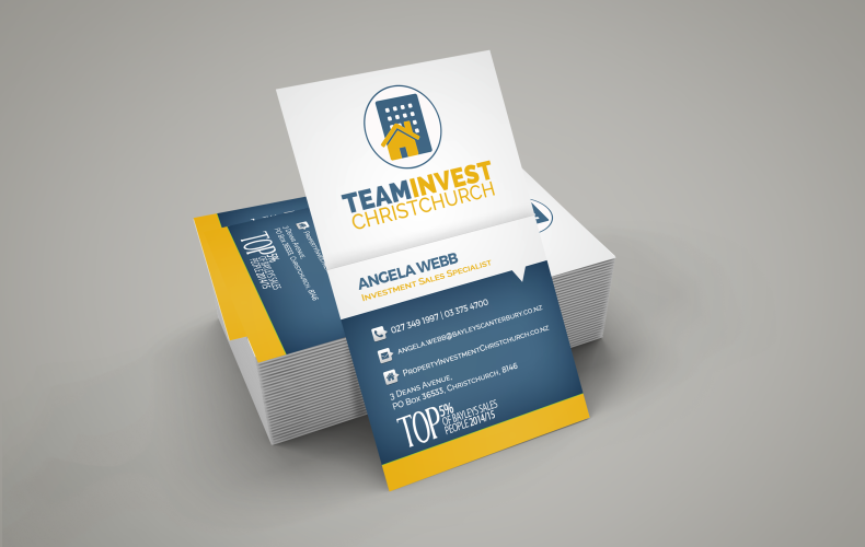 Design Project : Business Card for Team Invest
